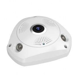 Sinofer Panoramic 3D Wireless IP Camera CCTV Fisheye 960P - White - 2