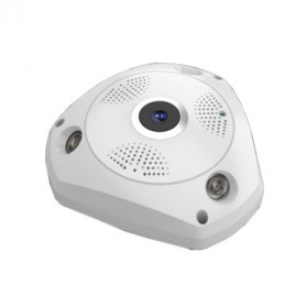 Sinofer Panoramic 3D Wireless IP Camera CCTV Fisheye 960P - White - 3