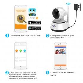 Hiseeu Wireless IP Camera CCTV HD 720P - White - 4