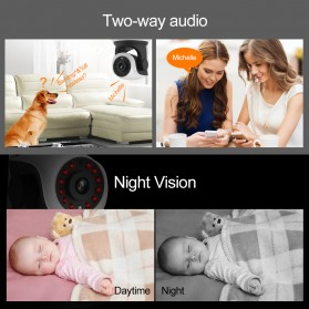 Vstarcam Wireless IP Camera CCTV 1/4 ONVIF CMOS 3.6mm 720P - White - 3