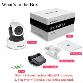 Vstarcam Wireless IP Camera CCTV 1/4 ONVIF CMOS 3.6mm 720P - White - 6