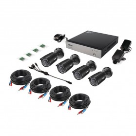 ZOSI Wired DVR Kit HD 4Ch with 4 CCTV 720P - Black - 3