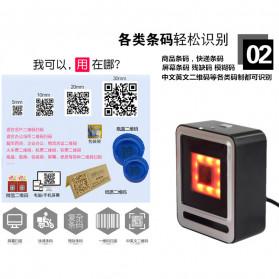 QINYE 2D Omnidirectional Image Barcode Scanner - YHD-9200 - Black - 6