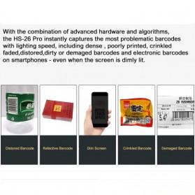 YK&SCAN USB Barcode Scanner 2D QR 1D - HS26 - Black - 4
