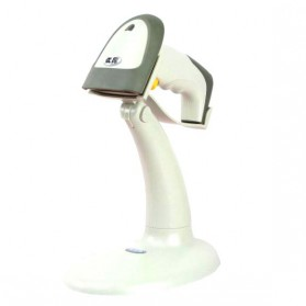 Taffware Handsfree Automatic Laser 1D Barcode Scanner Reader with Stand - YK-990 - Gray - 5