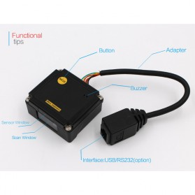 TaffWare Embedded Barcode Scanner 2D QR 1D - EP2000 - Black - 9