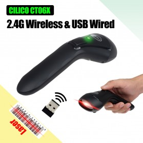 Barcode Scanner / NFC Tag - Cilico Wireless Barcode Scanner 2.4GHz 1800mAh - CT-60 - Black
