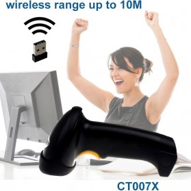 Cilico Wireless Barcode Scanner 2.4GHz 1500mAh - CT007X - Black - 7