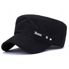 Topi Flat Top Cap Komando Model Venture - PY-D10187 - Black