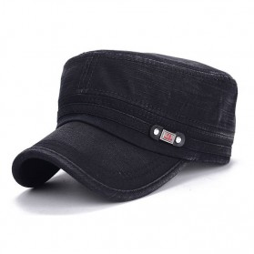 Topi Flat Top Cap Komando Model FS Fashion - F6 - Black