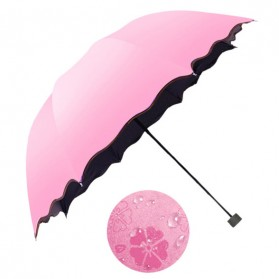 Payung Lipat Simple Fashion Umbrella UV Protection 90cm - MY2317 - Pink