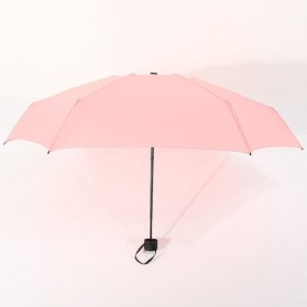 Payung Lipat Simple Fashion Umbrella UV Protection 87 cm - DYD164 - Pink