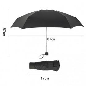 Payung Lipat Simple Fashion Umbrella UV Protection 87 cm - DYD164 - Black - 5