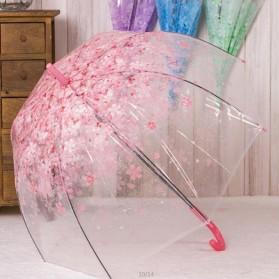 Payung Transparant Sakura Flower Umbrella 80 cm - F000095 - Pink - 2