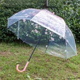 Payung Transparant Sakura Flower Umbrella 80 cm - F000095 - Pink - 3