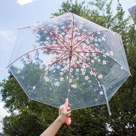 Payung Transparant Sakura Flower Umbrella 80 cm - F000095 - Pink - 4