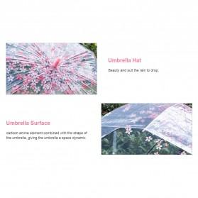 Payung Transparant Sakura Flower Umbrella 80 cm - F000095 - Pink - 7