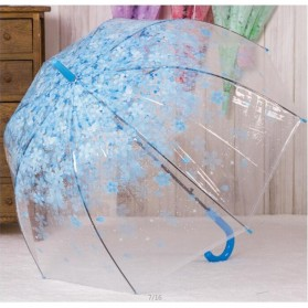 Payung Transparant Sakura Flower Umbrella 80 cm - F000095 - Blue