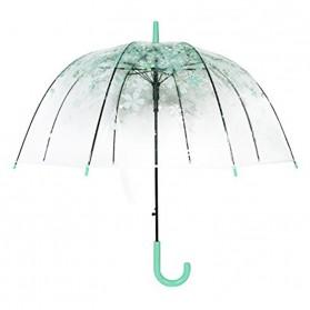 Payung Transparant Sakura Flower Umbrella 80 cm - F000095 - Green - 2