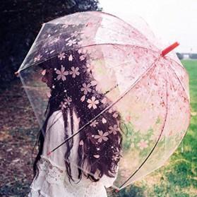 Payung Transparant Sakura Flower Umbrella 80 cm - F000095 - Green - 3