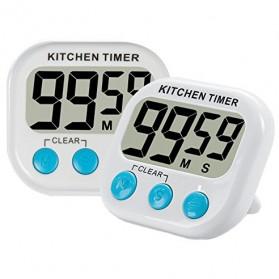 Timer Masak Dapur LCD Kitchen Countdown Clock - RT332 - Blue - 2