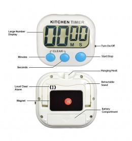 Timer Masak Dapur LCD Kitchen Countdown Clock - RT332 - Blue - 4
