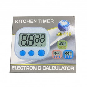 Timer Masak Dapur LCD Kitchen Countdown Clock - JS-118 - Blue - 7