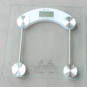 Taffware Digipounds Gohide Timbangan Badan Kaca Digital 180Kg Large Size - 2003B - Transparent