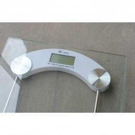 Taffware Digipounds Gohide Timbangan Badan Kaca Digital 180Kg Large Size - 2003B - Transparent - 2