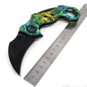 Claw Knife Pisau Karambit Scorpion Collector Hunting 180mm - FD-033 - Green - 4