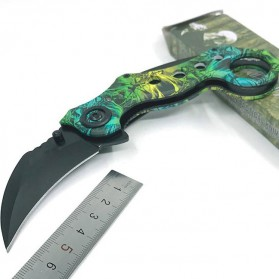 Claw Knife Pisau Karambit Scorpion Collector Hunting 180mm - FD-033 - Green - 5