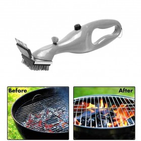 Alat Pembersih Tungku Stainless Steel BBQ Brush Grill Cleaner - ZK4010 - Silver - 6