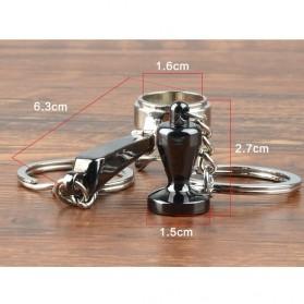 Kisshome Gantungan Kunci Aksesoris Kopi Barista Keychain Model Coffee Tamper - V587 - 2