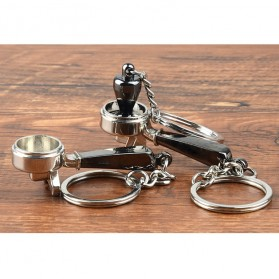 Kisshome Gantungan Kunci Aksesoris Kopi Barista Keychain Model Coffee Tamper - V587 - 8