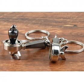 Kisshome Gantungan Kunci Aksesoris Kopi Barista Keychain Model Coffee Tamper - V587 - 9