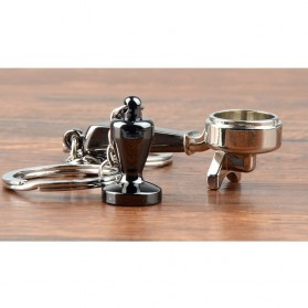 Kisshome Gantungan Kunci Aksesoris Kopi Barista Model Coffee Handle - V587 - 4