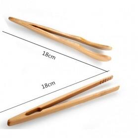 HOUSEEN Capitan Tongs Sumpit Bambu Teh Chinese Tea Tweezer Model Lurus - Brown - 4