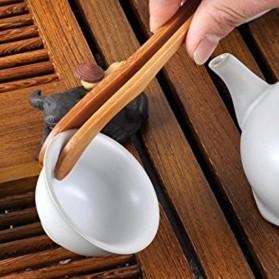 HOUSEEN Capitan Tongs Sumpit Bambu Teh Chinese Tea Tweezer Model Lurus - Brown - 9
