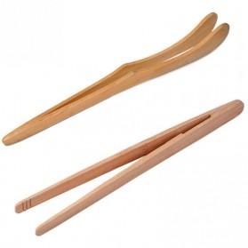HOUSEEN Capitan Tongs Sumpit Bambu Teh Chinese Tea Tweezer Model Lengkung - Brown - 3