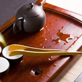 HOUSEEN Capitan Tongs Sumpit Bambu Teh Chinese Tea Tweezer Model Lengkung - Brown - 7