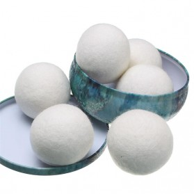 Meigar Bola Cuci Pengering Wool Organic Dryer Laundry Ball 6 PCS - White - 3
