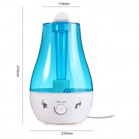 XProject Air Humidifier Ultrasonic Large Capacity 3L - Blue - 5