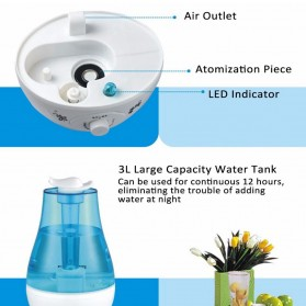 XProject Air Humidifier Ultrasonic Large Capacity 3L - Blue - 7