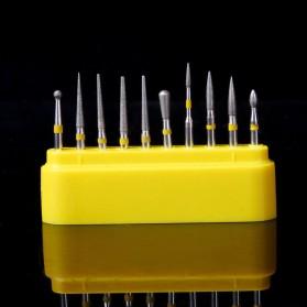Xceldent Mata Bor Diamond Burs untuk Poles Gigi Kuku Serbaguna 10 PCS - Yellow - 7