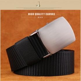 Miluota Tali Ikat Pinggang Pria Canvas Stylish Metal Buckle Belt - MU071 - Black - 2