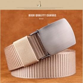 Miluota Tali Ikat Pinggang Pria Canvas Stylish Metal Buckle Belt - MU071 - Brown - 2