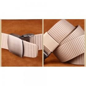 Miluota Tali Ikat Pinggang Pria Canvas Stylish Metal Buckle Belt - MU071 - Brown - 5