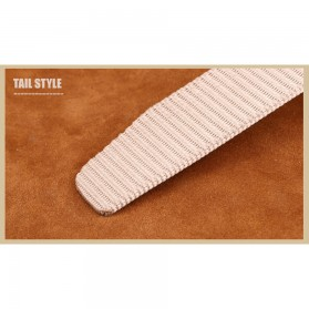Miluota Tali Ikat Pinggang Pria Canvas Stylish Metal Buckle Belt - MU071 - Brown - 6