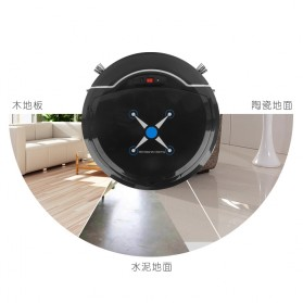 Automatic Household Vacuum Cleaner Universal Drive Lazy Robot with Sweeping - 2839 - Black - 4
