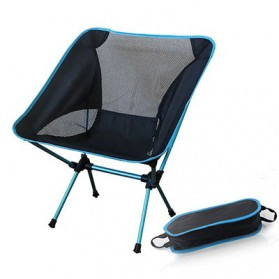 TaffSPORT Kursi Lipat Memancing Portable Collapsible Folding Fishing Chair Low Design - SF733 - Blue